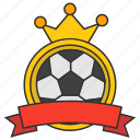 badge, ball, crown, league, logo, mvp, tournament icon