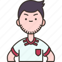 iran, man, soccer, player, team