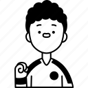 micronesia, sportsman, uniform, supporter, cheering icon