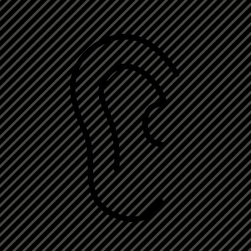 audo, deaf, ear, listen, sound icon