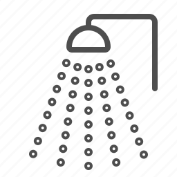 bath, bathroom, clean, shower, water icon
