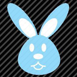 animal, animals, bunny, cute, emotion, face, rabbit icon