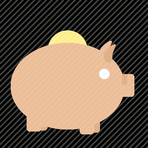 animal, cash, money, piggy, piggy bank, saving, toy icon