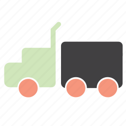 cargo, delivery, drive, lorry, toy, transport, truck icon