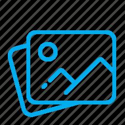 album, folder, gallery, illustration, photo, pictures, scan icon