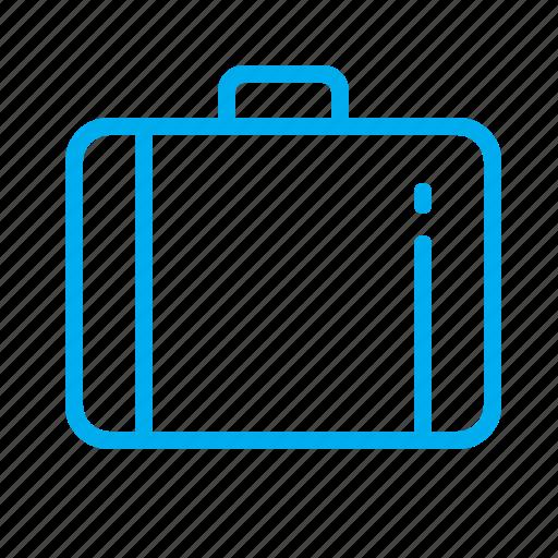 bag, case, folder, portmanteau, suitcase, trunk, valise icon