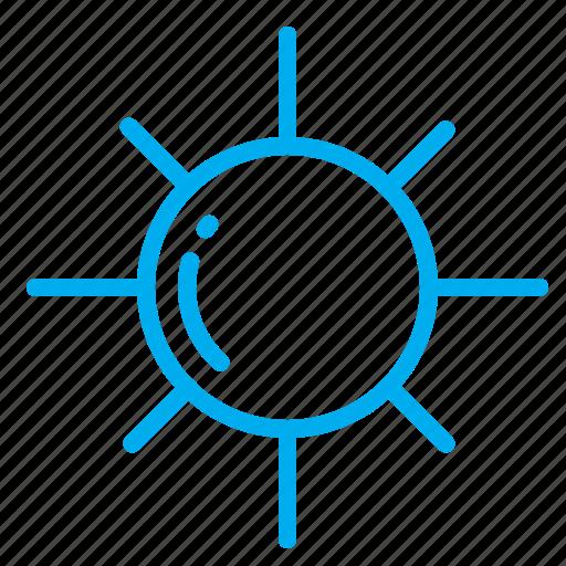 adjust, brightness, diplay, light, star, sun icon
