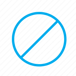 circle, disabled, prohibited, sign icon