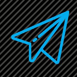 mail, mailbox, paperplane, plane, send, texting icon