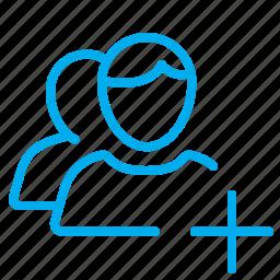 adding, human, people, public, user, users icon