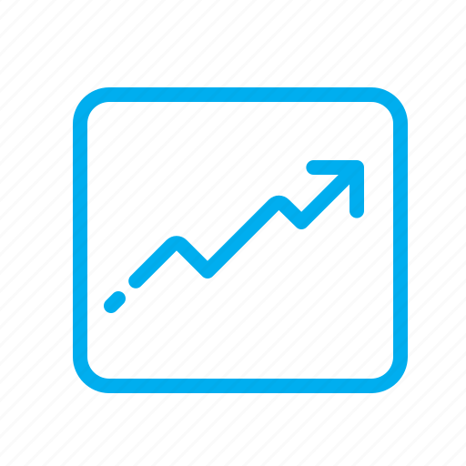 arrow, graph, growth, income, profit, progress icon