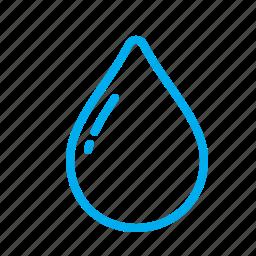 drop, droplet, rain, raindrop, small, water icon