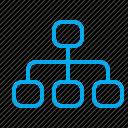 application, chart, graph, interface, mindmap, structure, web icon