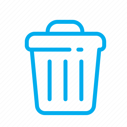bin, bucket, delete, metal, remove, scrap, trash icon