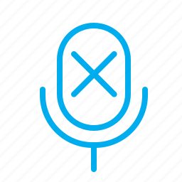 disabled, dumb, microphone, mute, off, silence, silent icon