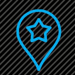 geo, geotag, landmark, location, map, position, tag icon