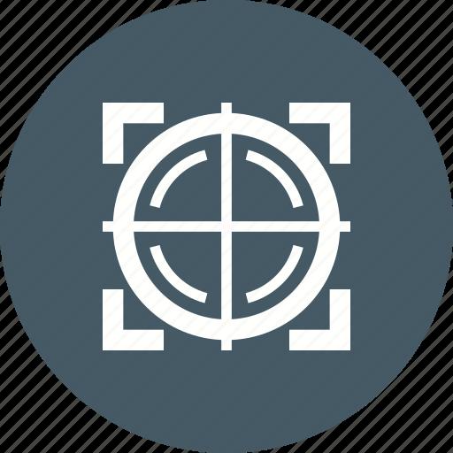 circle, design, dot, gun, sight, sniper, target icon