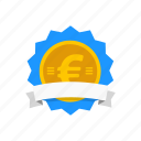 award, currency, european badge, medal icon