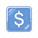 cents, coin, dollar, money icon