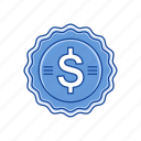 cents, coins, dollar, dollar coin icon