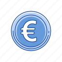 coin, euro, european money, money icon