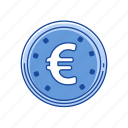 cents, coins, euro, money icon