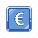 coin, euro, euro coins, money icon