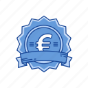 badge, coins, euro, european money icon