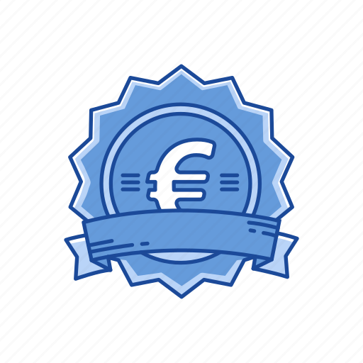 badge, coins, euro, european money icon