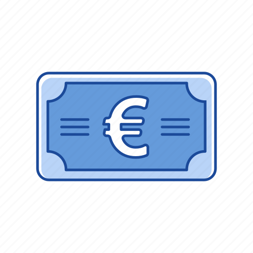 bill, cash, euro, money icon