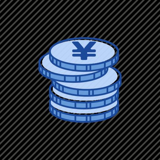 cents, coins, money, yen icon