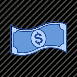 bill, cash, dollar money, money icon