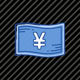 bill, cash, money, yen icon