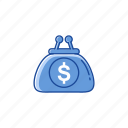 dollar, money, purse, wallet icon