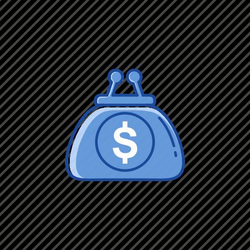 dollar, money, purse, wallet icon