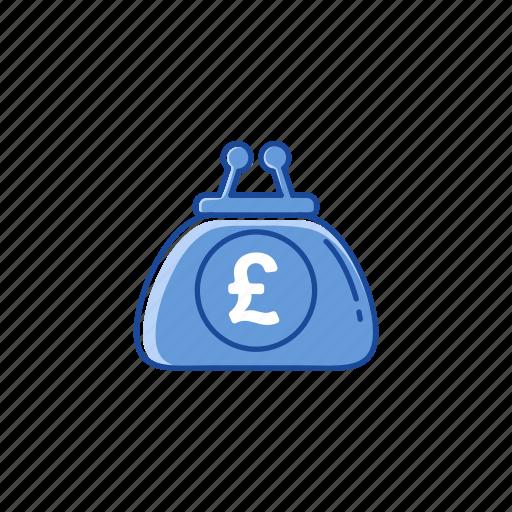 british pound, pound, purse, wallet icon