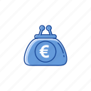 euro, money, purse, wallet icon