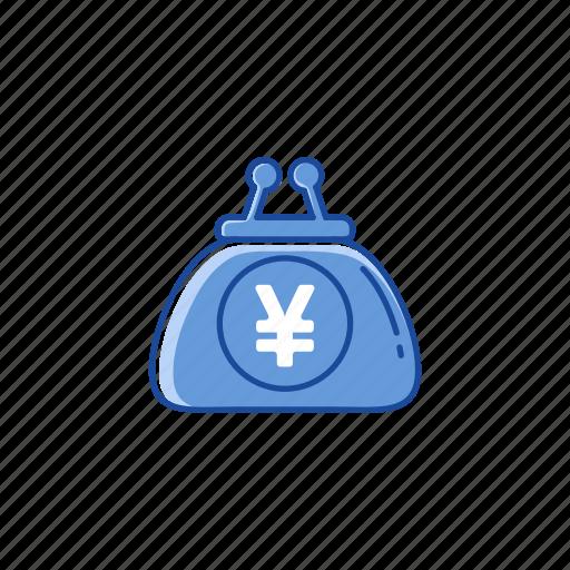 coin purse, purse, wallet, yen icon
