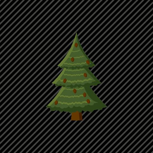 blog, cartoon, cone, fir, nature, spruce, tree icon