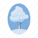 blog, cartoon, nature, season, snow, tree, winter icon