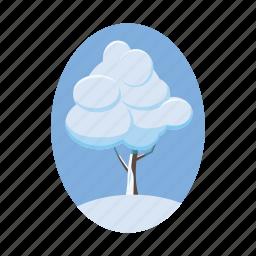 blog, cartoon, nature, season, snow, tree, winter icon
