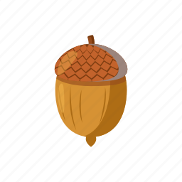 acorn, blog, cartoon, nature, nut, oak, plant icon