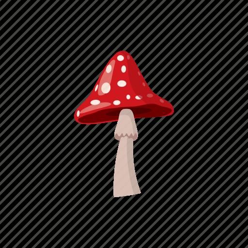 agaric, blog, cartoon, forest, mushroom, nature, plant icon