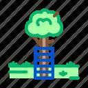 equipment, fence, lumberjack, protection, safe, tree, working icon