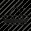 basket, dinner, picnic, set, shopping icon