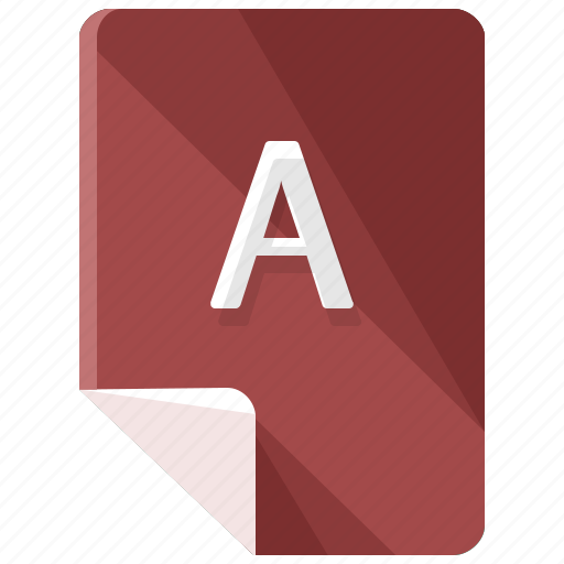 a, extension, file, format icon