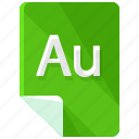 au, extension, file, format icon