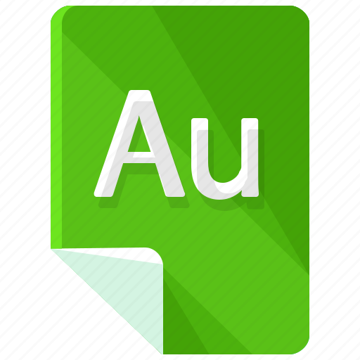 au, extension, file, format icon