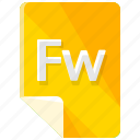 extension, file, format, fw icon