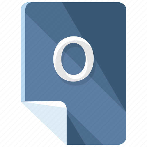 extension, file, format, o icon